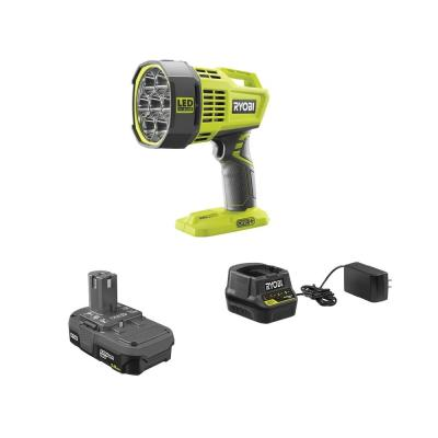 ONE+ 18V Cordless Hybrid LED Spot Light Kit with 12-Volt Automotive Cord, 1.5 Ah Battery, and Charger
