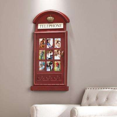 9-Opening 3 in. W x 4.5 in. H Jolene Phone Booth Wall Mount Picture Frame