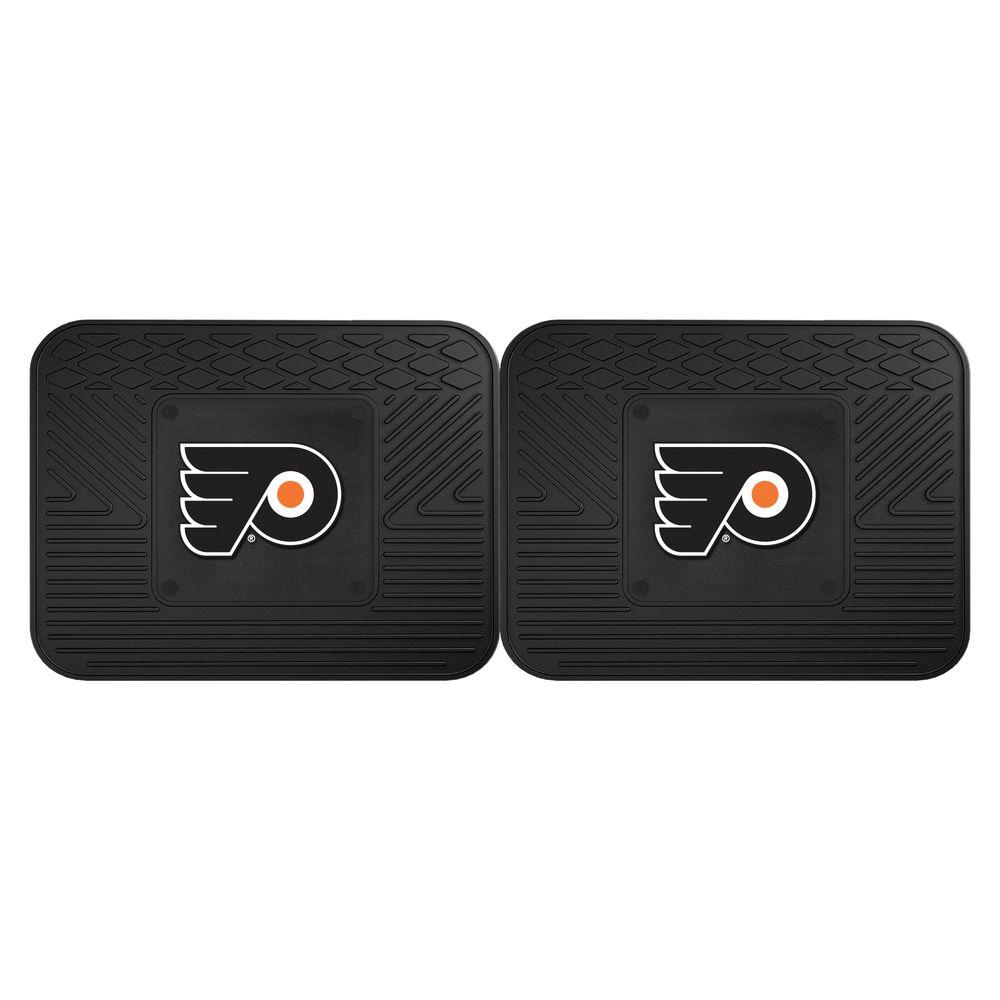 Fanmats Nhl Philadelphia Flyers Black Heavy Duty 14 In X