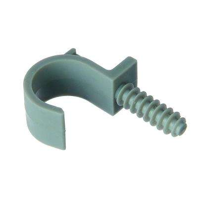 1/2 in. PVC Masonry Pipe Clamp (12 Packs of 5/Case - 60 Total Pieces)