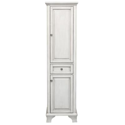 Corsicana 19 in. W x 15 in. D x 70 in. D Linen Cabinet in Antique White