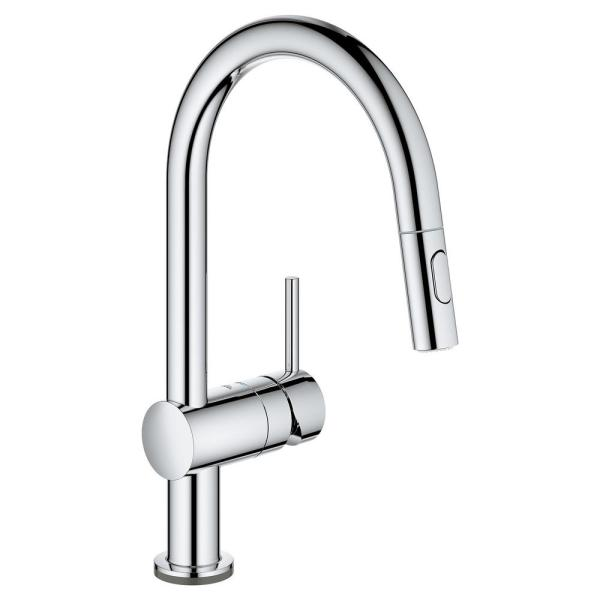 Minta Single-Handle Touch Dual Spray Pull-Out Sprayer Kitchen Faucet 1.75 GPM in StarLight Chrome