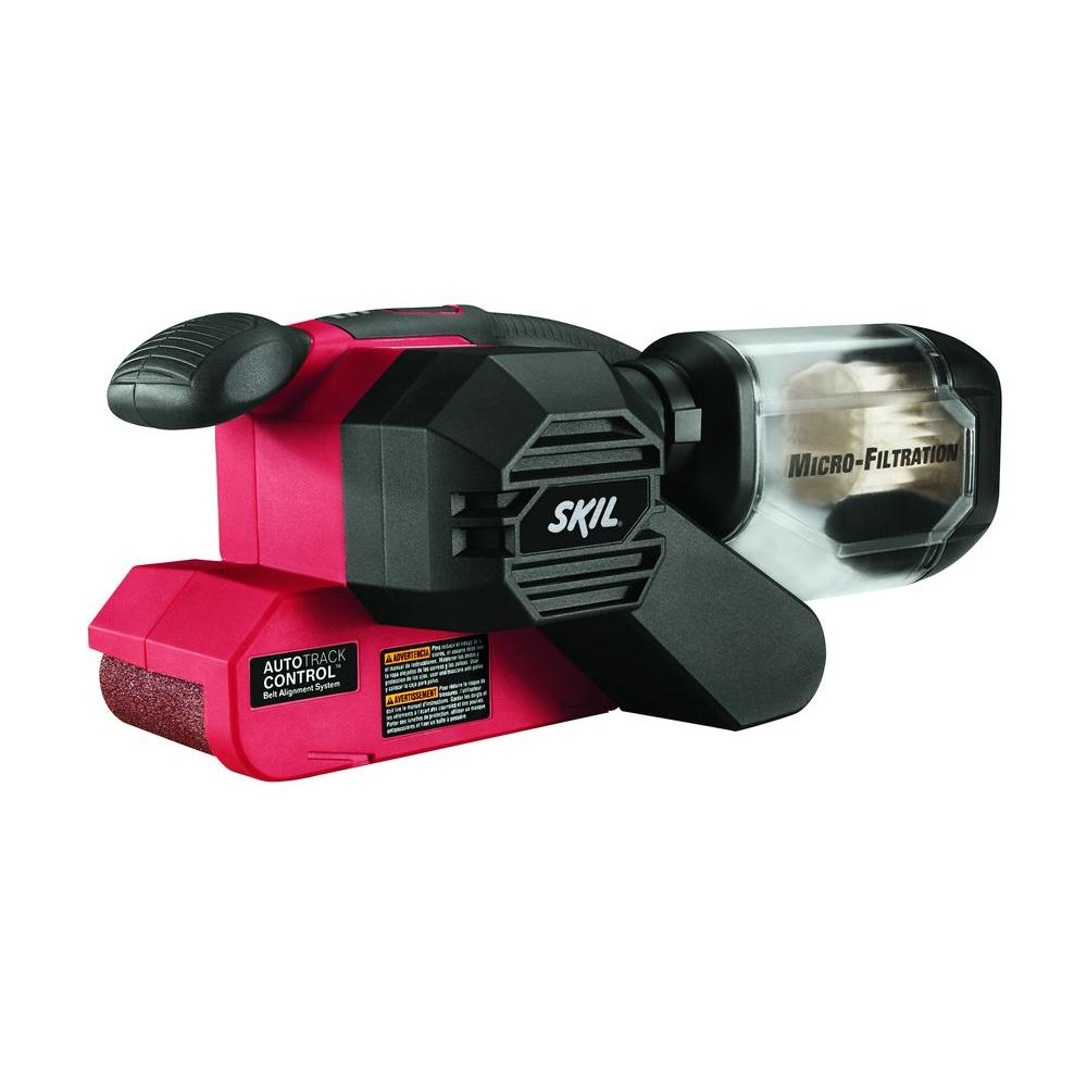 Skil Factory Reconditioned Corded Electric 3 in. x 18 in. Power Belt Sander Kit with Pressure Control and Micro Filter