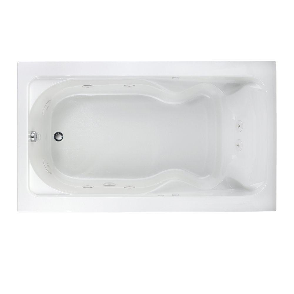 Cadet 6 ft. x 42 in. Whirlpool Tub in White