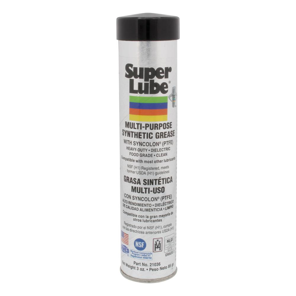 Super Lube 3 oz  Cartridge Synthetic Grease with Syncolon PTFE