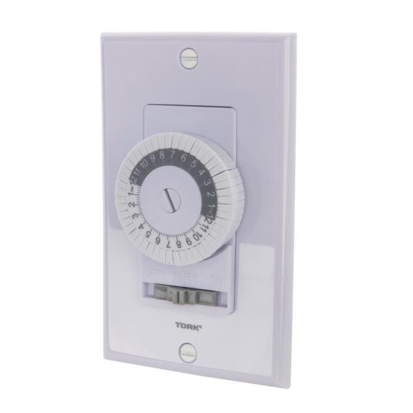 120-Volt 24-Hour 20 Amp Electromechanical 24 ON/OFF MAX In-Wall Time Switch, White