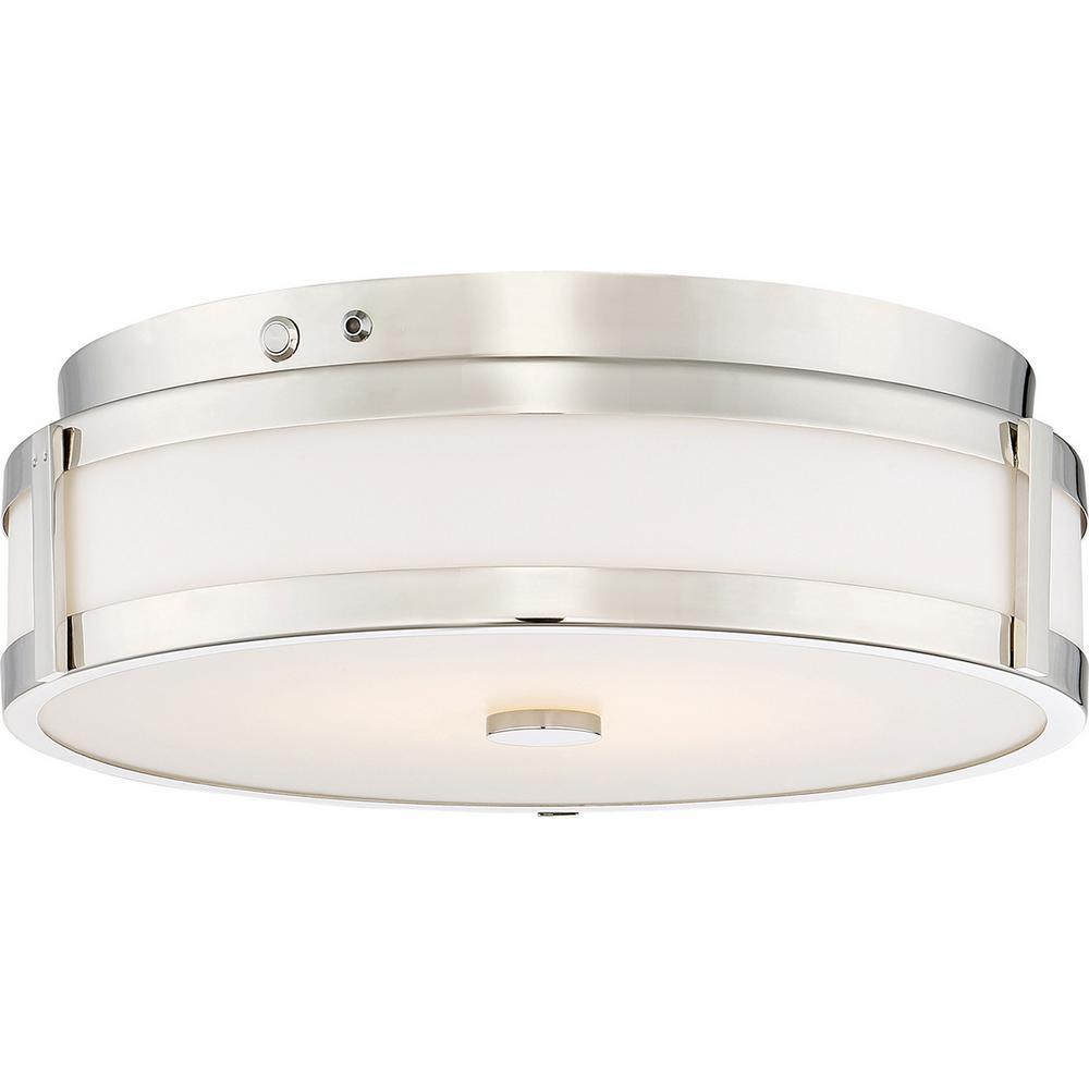20-Watt Polished Nickel Integrated LED Emergency Light