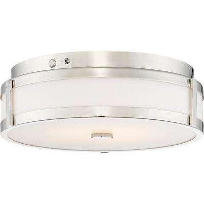 20-Watt Polished Nickel Integrated LED Emergency Light