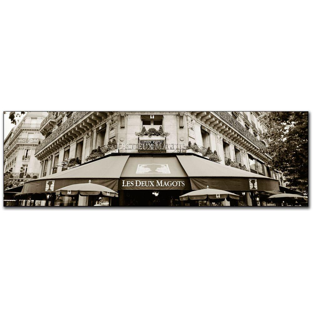 10 in. x 32 in. Le Deux Magots Canvas Art