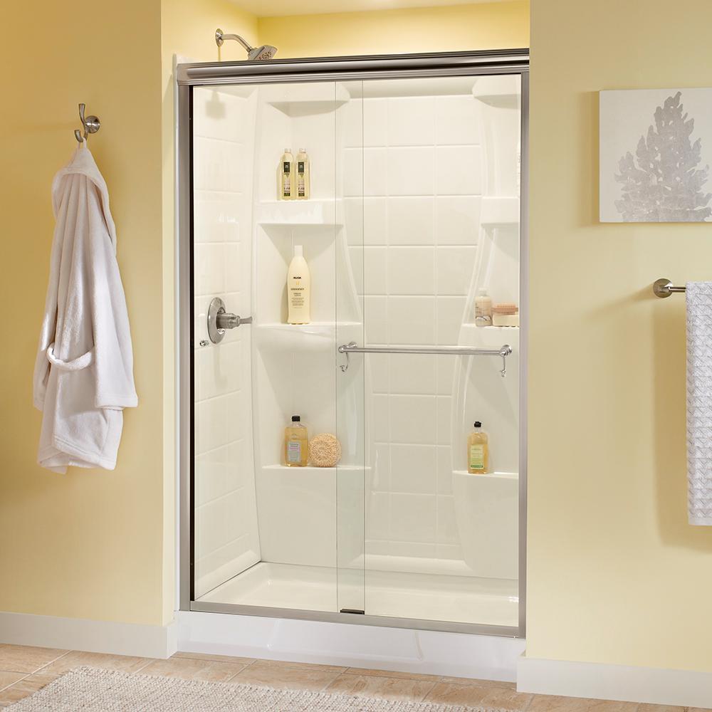 Delta Portman 48 In X 70 In Semi Frameless Sliding Shower Door In