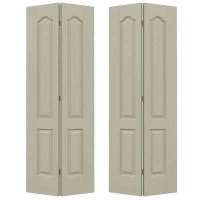 72 in. x 80 in. Camden Desert Sand Painted Textured Molded Composite MDF Closet Bi-fold Door