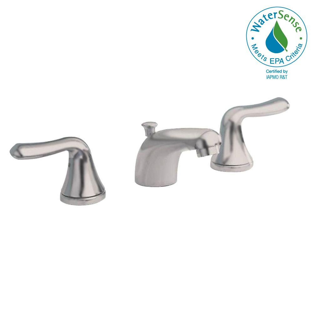 Colony Soft 8 in. Widespread 2-Handle Low-Arc Bathroom Faucet in Brushed