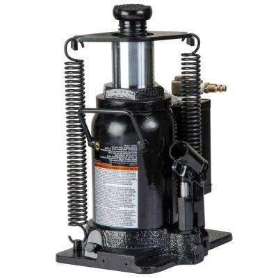 20-Ton Hydraulic Air/Manual Bottle Jack with Return Springs
