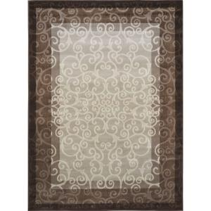Home Dynamix Melissa Cream/Brown 7 ft. 8 inch x 10 ft. 2 inch Indoor Area Rug by Home Dynamix