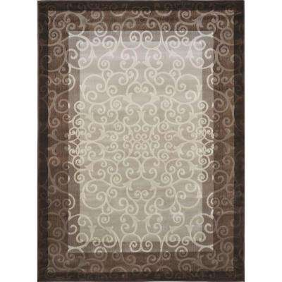Melissa Cream/Brown 8 ft. x 10 ft. Indoor Area Rug