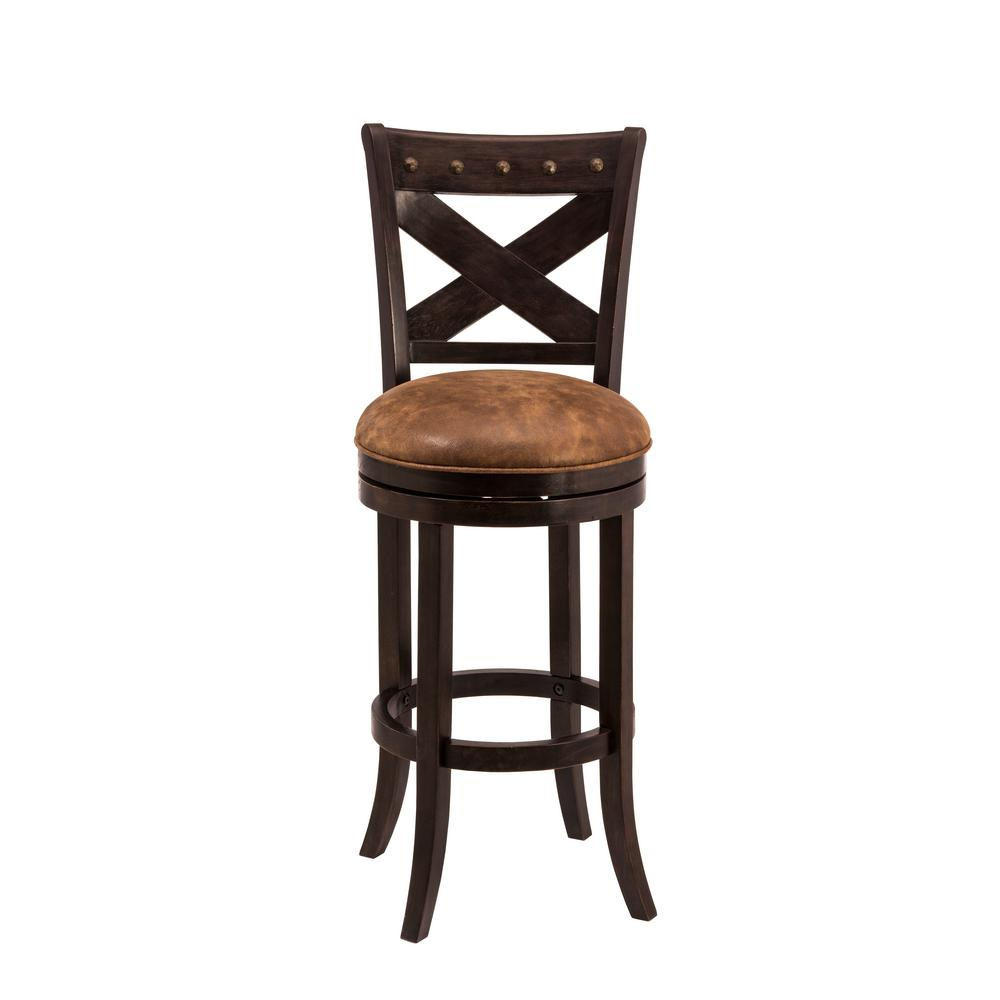 Hillsdale Furniture Burrell 30 In Brown Cherry And Old