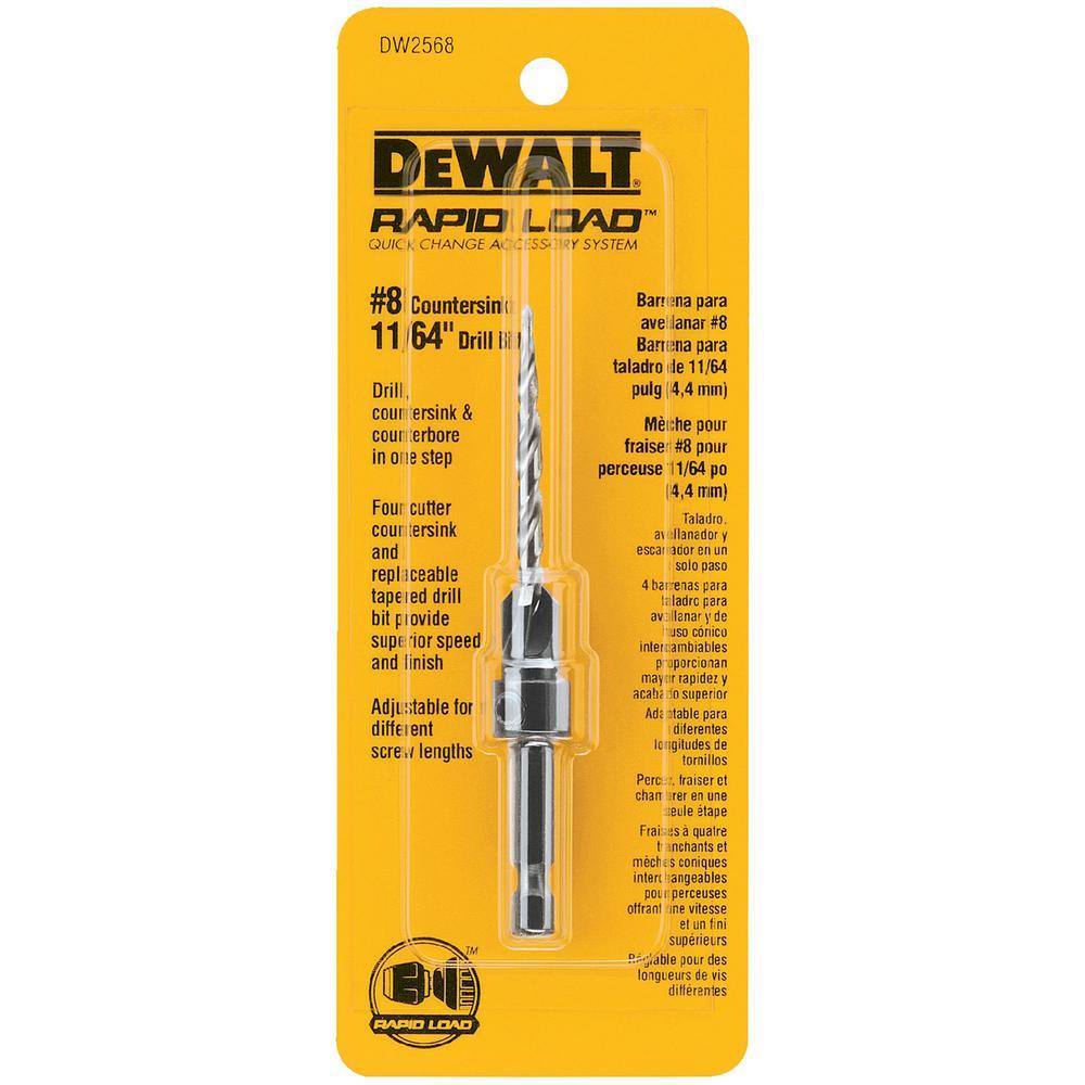DEWALT #8 Countersink with 11/64 in.  Drill Bit