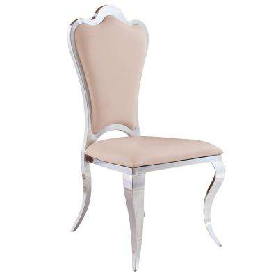 Bella Sand Stainless Steel Dining Chair (Set of 2)