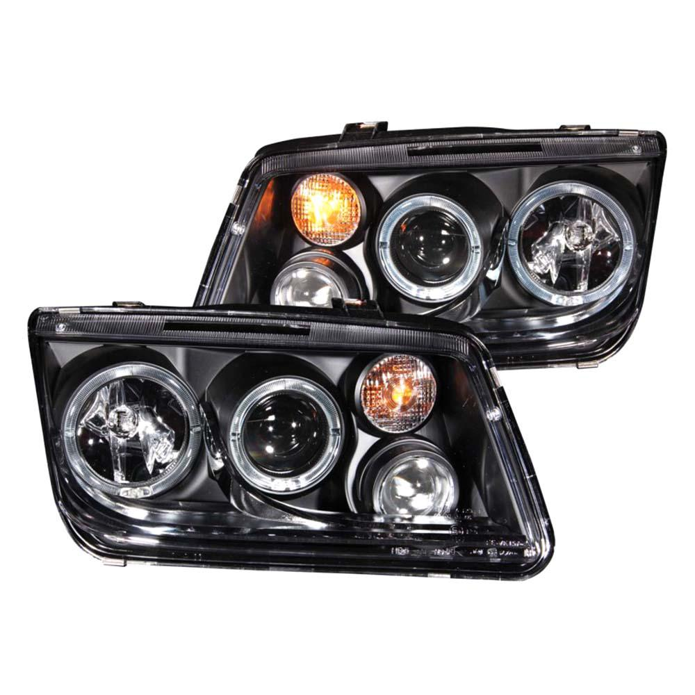 1999 2005 Volkswagen Jetta Projector Headlights W Halo Black Ccfl