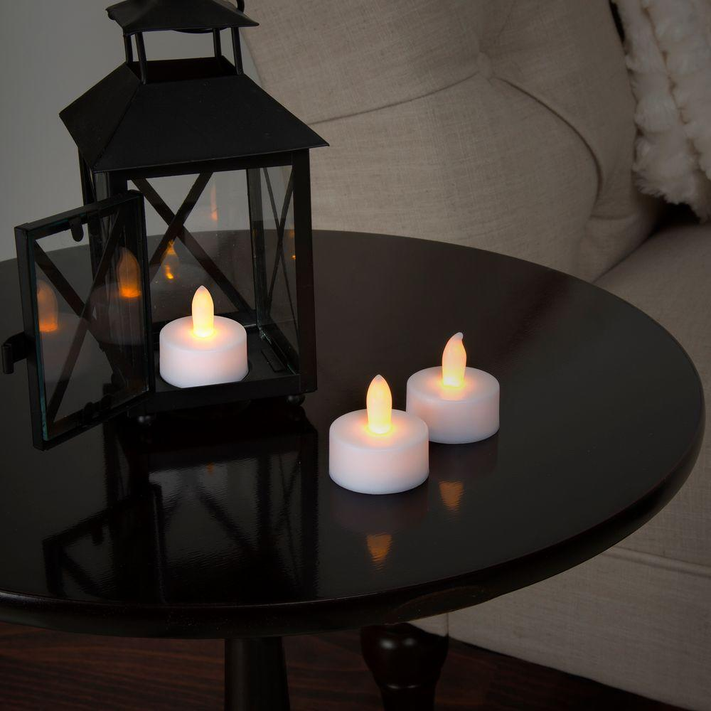 Lavish Home 1 5 In H Led Tea Light Candle Set 24 Piece