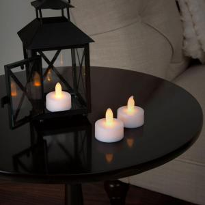 1.5 in. H LED Tea Light Candle Set (24-Piece)