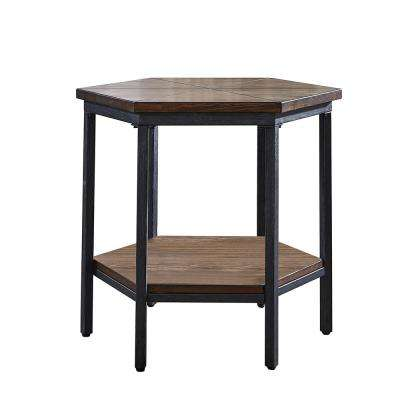 Ultimo Mocha Hexagon End Table