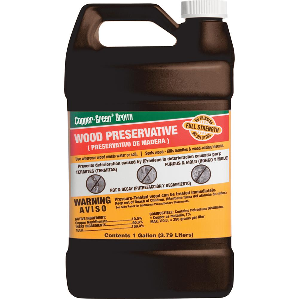 Green products cb 1 1 gallon brown wood preservative - Exterior wood treatment products ...