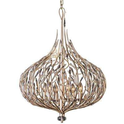 Bask 6-Light Gold Dust Pendant with Clear Premium Crystal Accents