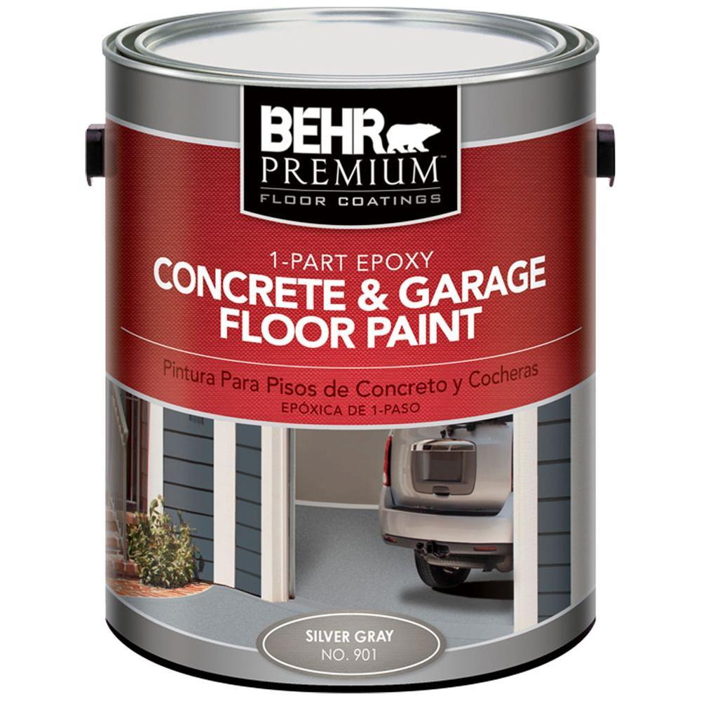 BEHR Premium 1-gal. #901 Silver Gray 1 Part Epoxy Concrete Floor Paint