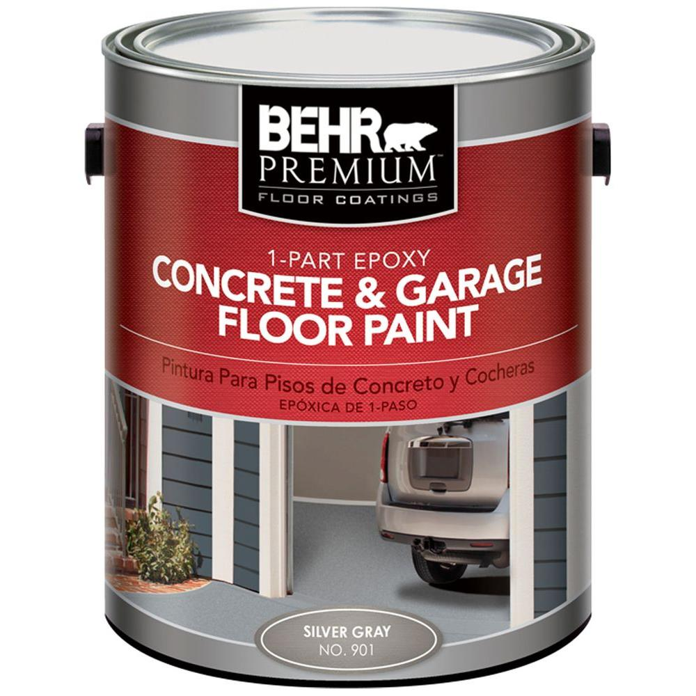 BEHR Premium 1-gal. #901 Silver Gray 1 Part Epoxy Concrete Floor Paint