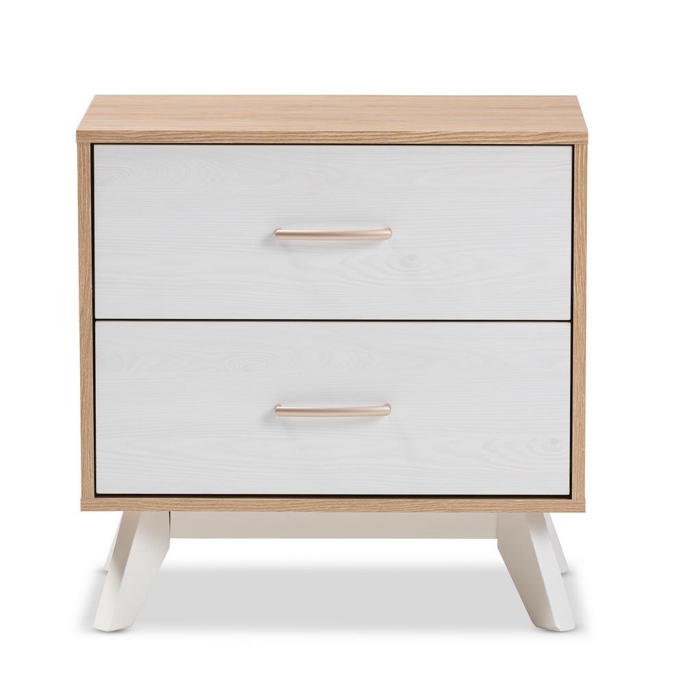 baxton studio helena 2-drawer natural/whitewash nightstand-28862 Natural Nightstand
