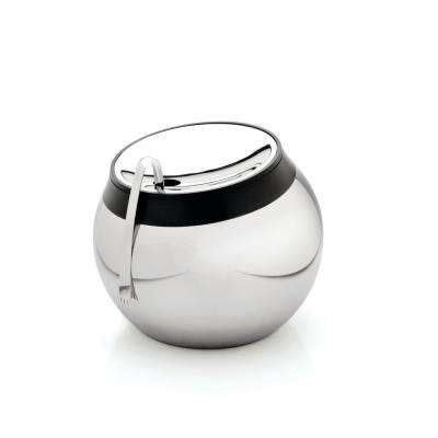 Essentials Stainless Steel Ice Bucket with Lid and Tongs