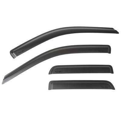 Matte Black Window Visor Kit 09-14 Ram 1500 Quad Cab Pickup