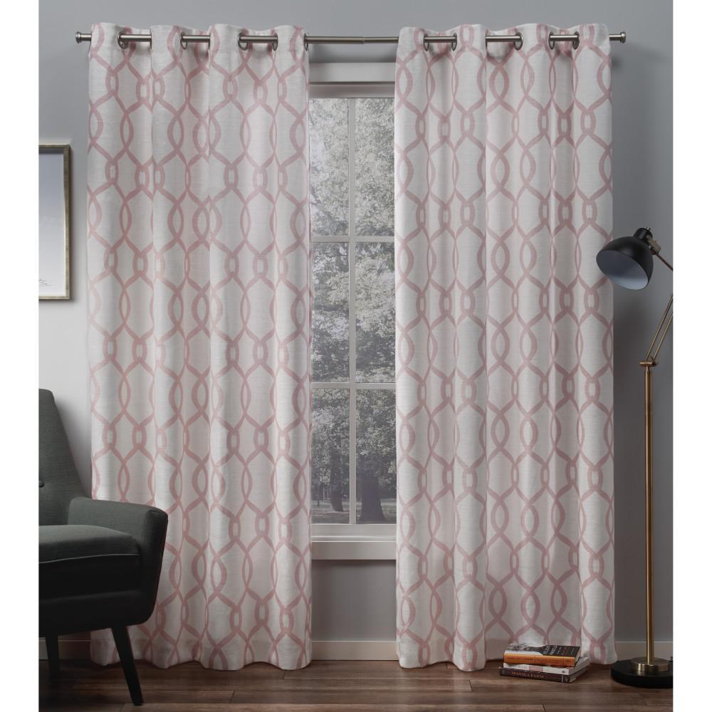 Exclusive Home Curtains Kochi Blush Grommet Top Curtain Pair