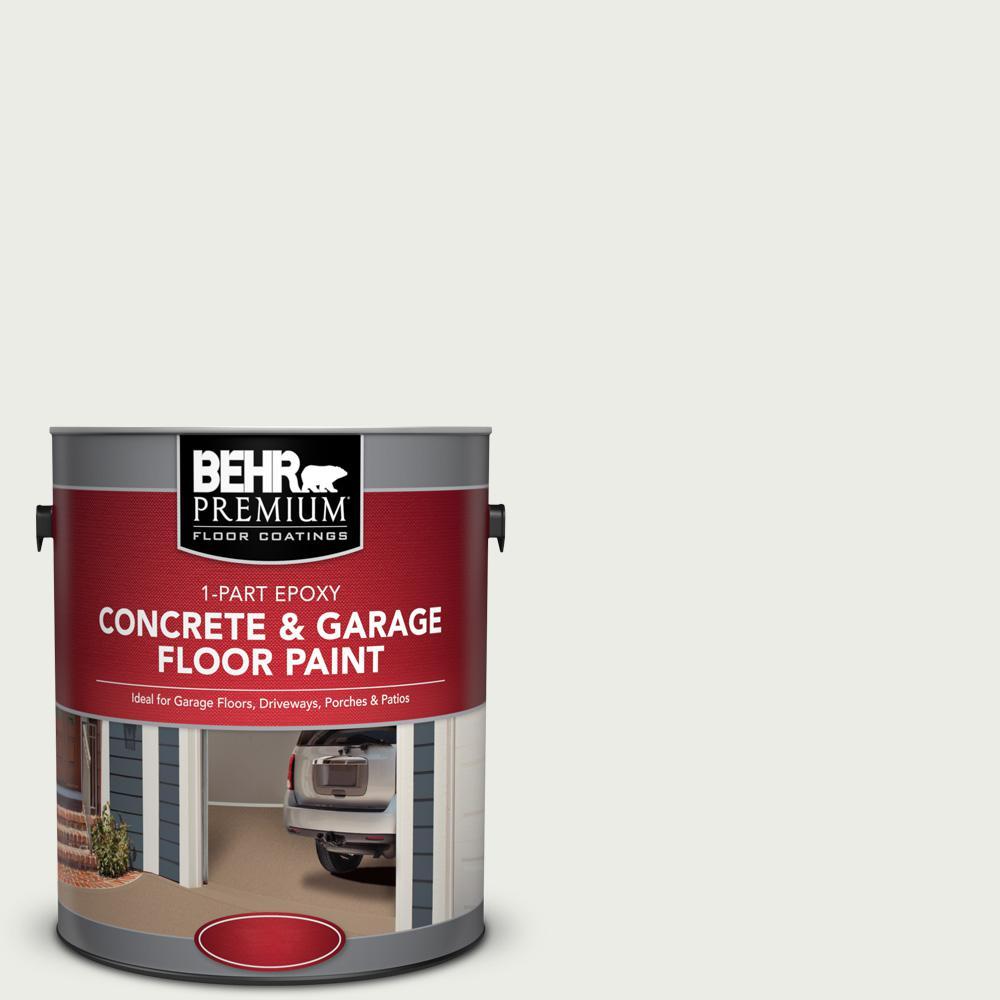 1 gal. #52 White 1-Part Epoxy Satin Interior/Exterior Concrete and Garage Floor Paint