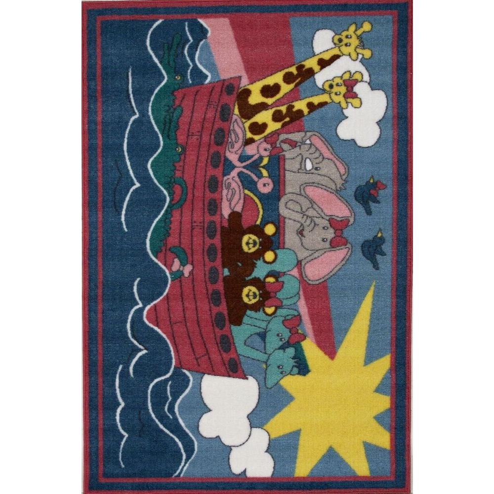 LA Rug Fun Time Noah's Ark Multi Colored 31 in. x 47 in. Accent Rug