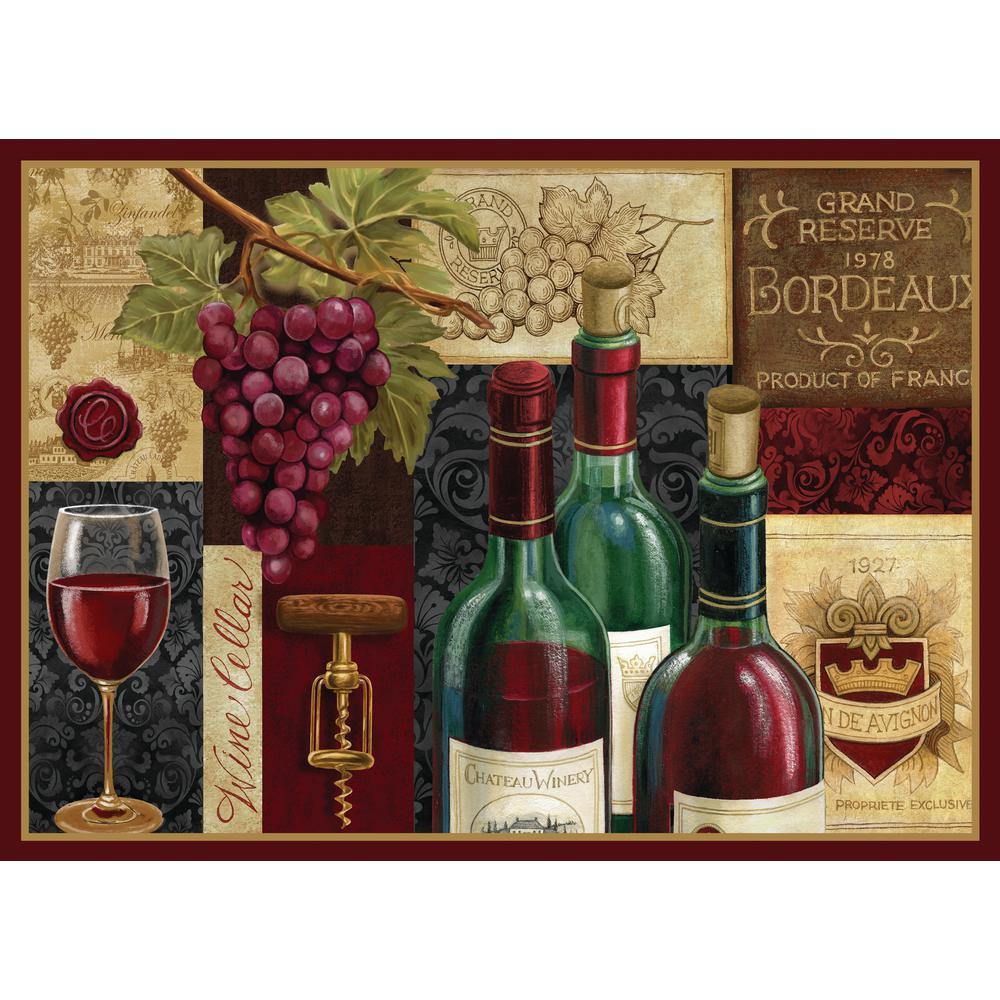 Morgan Home Burgundy Wine Cellar Placemat Set (4-Pack)