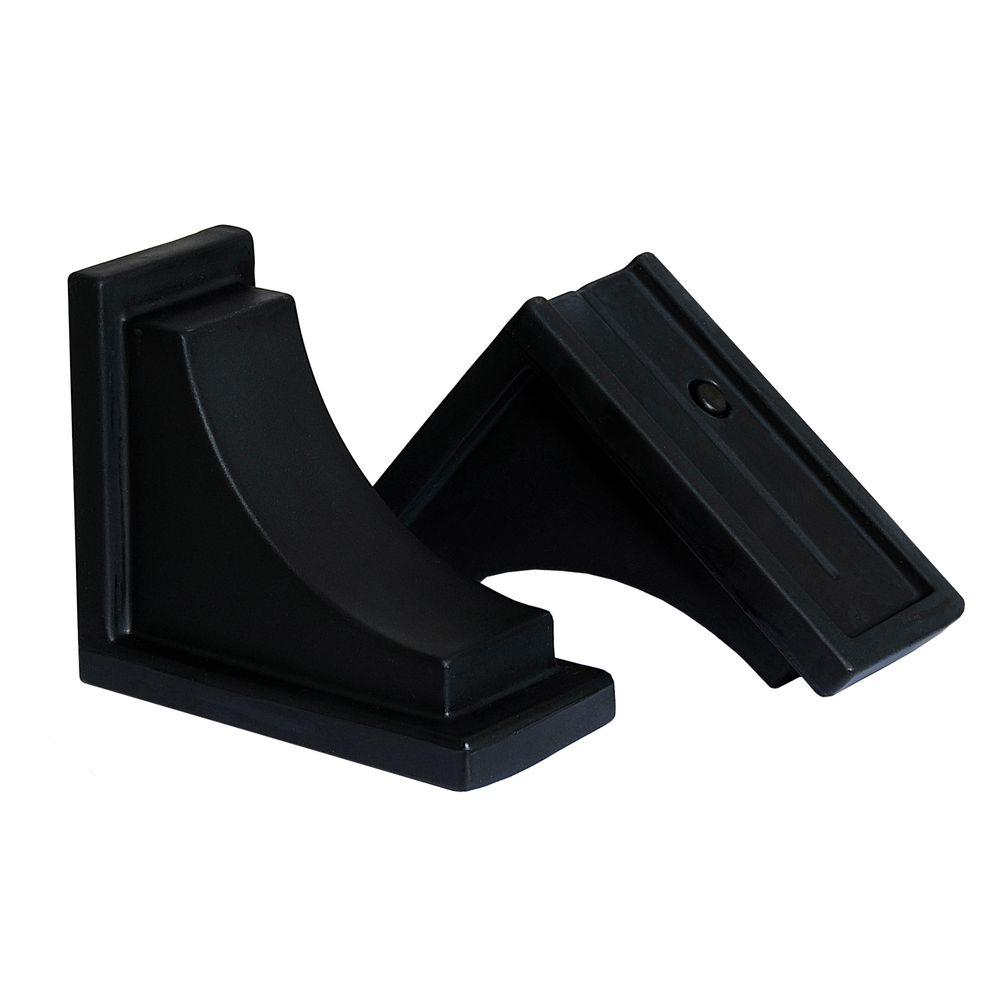 Nantucket Decorative Brackets in Black (2-Pack)