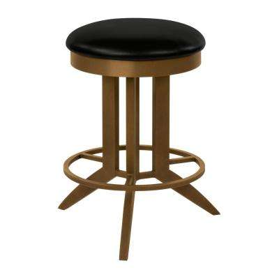 Cambridge 30 in. Cantina Black Backless Swivel Bar Stool