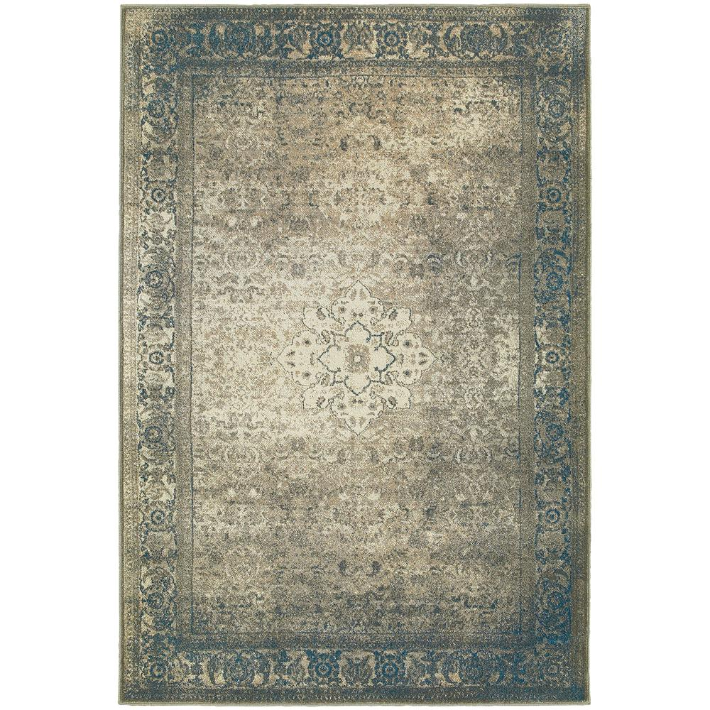 Home Decorators Collection Embassy Indigo/Teal 7 Ft. 10 In