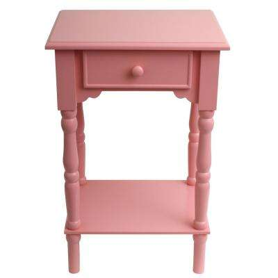Captivating Accent Pink End Table