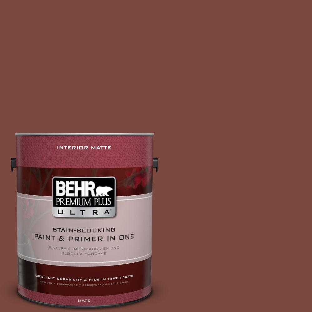 BEHR Premium Plus Ultra 1 gal. #S150-7 Fire Roasted Matte Interior Paint