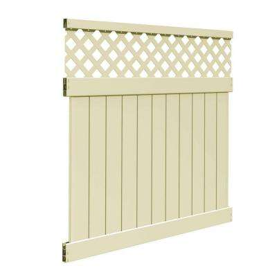 Valley 6 ft. H x 6 ft. W Sand Vinyl Fence Panel Kit