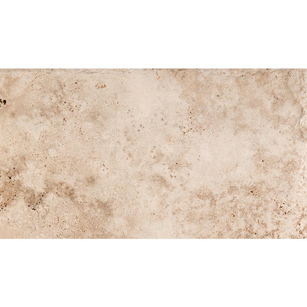 Travertine Tile Product : Emser trav chiseled vanilla coffee in