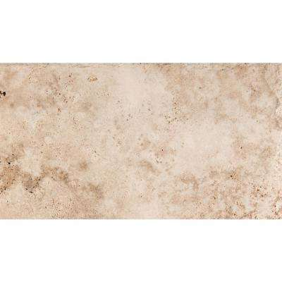 Trav Chiseled Vanilla Coffee 15.87 in. x 23.66 in. Travertine Floor and Wall Tile