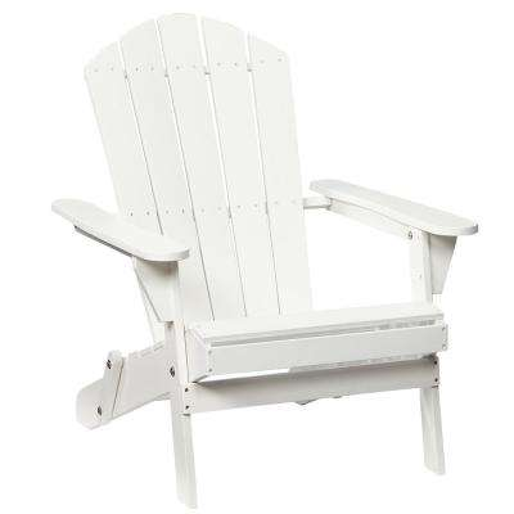 Adirondack Wood Folding Chair in Lattice White