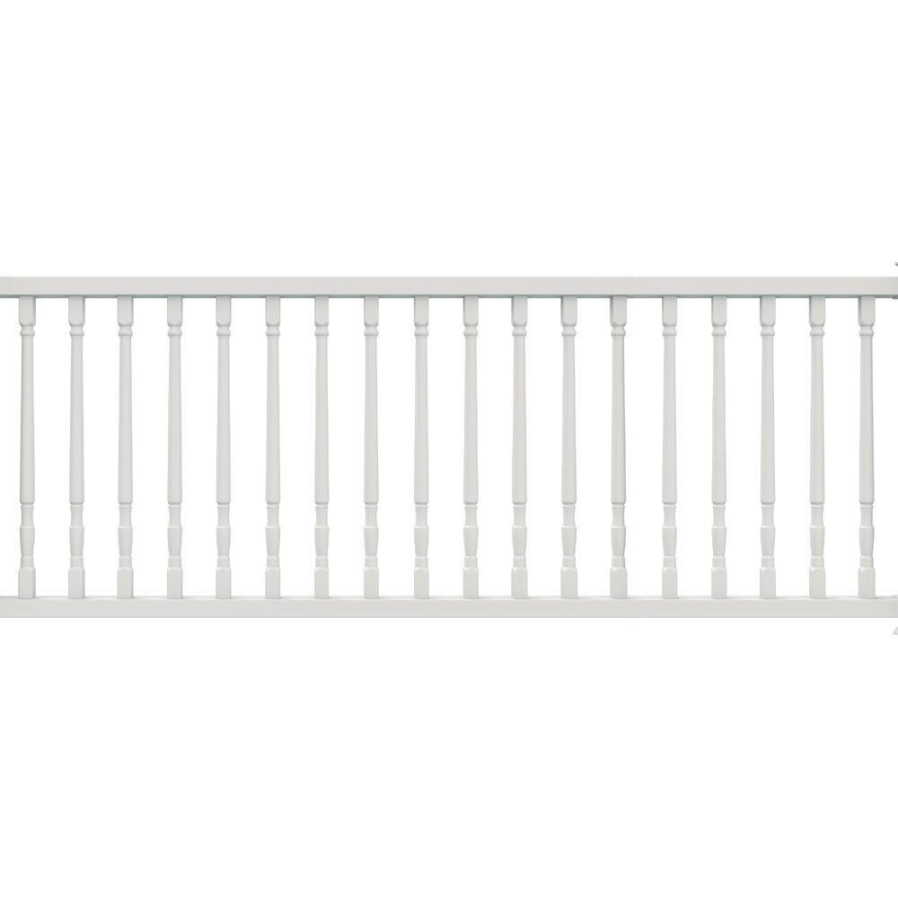 Veranda Select White Vinyl Colonial Balusters Rail Kit