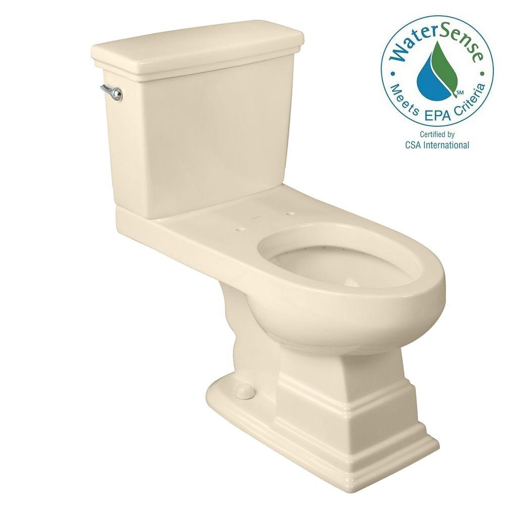 Foremost Structure Suite 2-Piece High Efficiency Elongated Toilet in Biscuit
