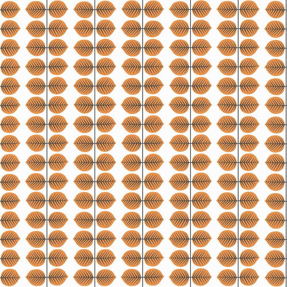 Peachy 57 8 Sq Ft Bers Orange Leaf Wallpaper Interior Design Ideas Skatsoteloinfo