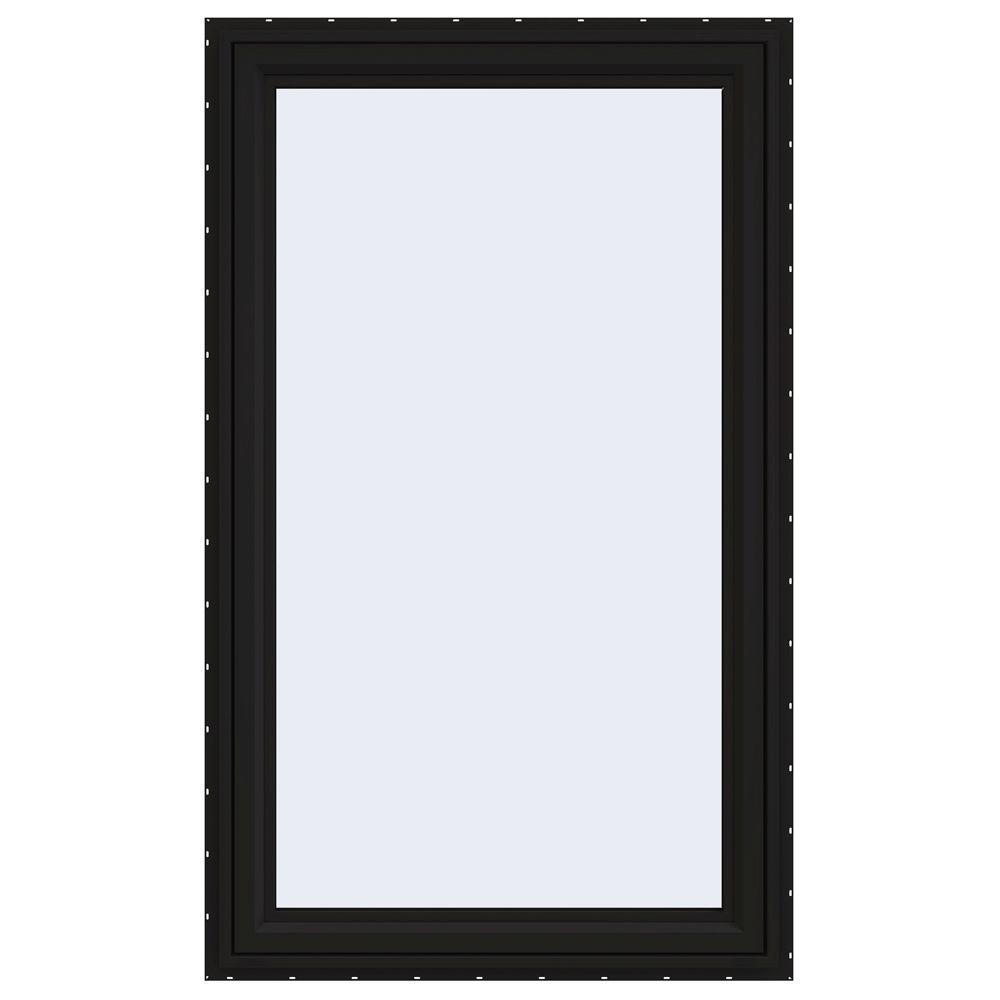 JELD-WEN 35.5 in. x 59.5 in. V-4500 Series Right-Hand Casement Vinyl Window - Black